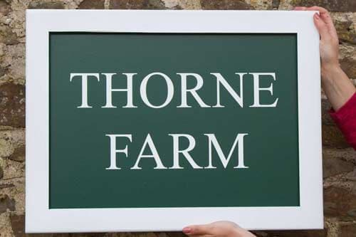 Painted Sign with a Frame Edge  | The Sign Maker Shop